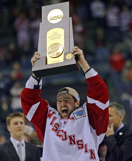 Adam Burish at Wisconsin